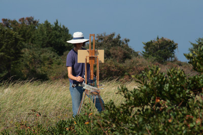 Hillary Osborn Painting on Location.